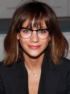 e128c2ab43a0 Rashida is wearing semi-rimmed frames, with a very subtle cat-eye. This  certainly plays into that famous 'librarian look', but the elegance of it  is in the ...