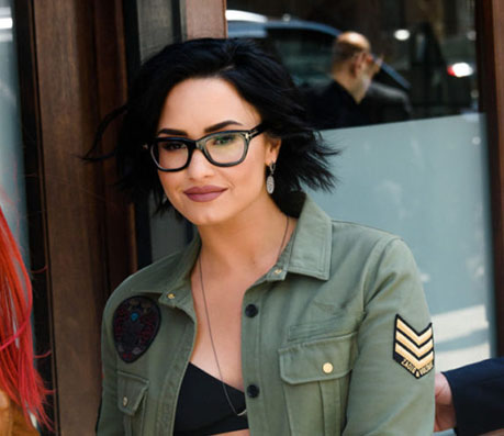 Demi Lovato in Bold glasses - Global Eyeglasses