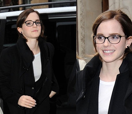 Emma Watson with Glasses - Celebrity Glasses - Global Eyeglasses