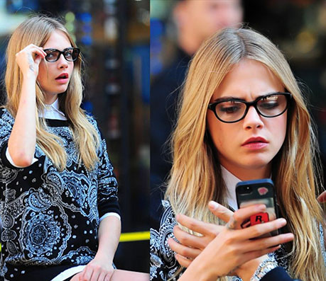 Cara Delevingne Glasses- Celebrity Glasses - Global Eyeglasses
