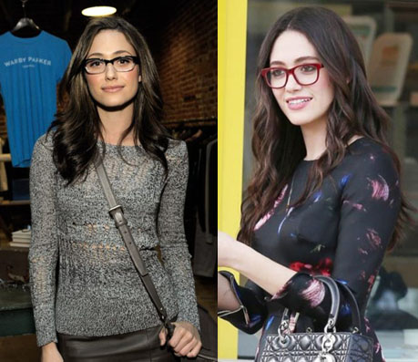 Emmy Rossum Glasses - Celebrity Glasses - Global Eyeglasses