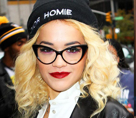 Rita Ora in Cat-eyed Glasses - Celebrity Glasses