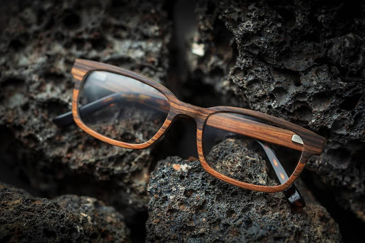 wooden frames - benefit of wooden eyeglass frames - cocoleni wooden frames - custom wooden frames - best wooden frames goa - eyeglass stores in goa - eyeglass cinematic shots - cocoleni - wooden frames on rocks
