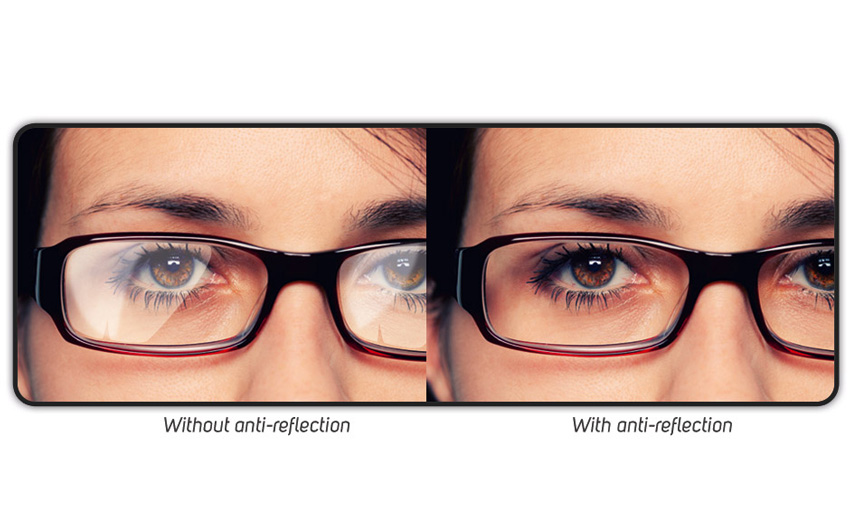 With and without Anti-Glare Coating