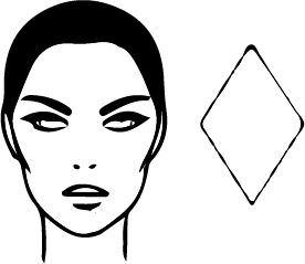 Diamond triangular Face Shape