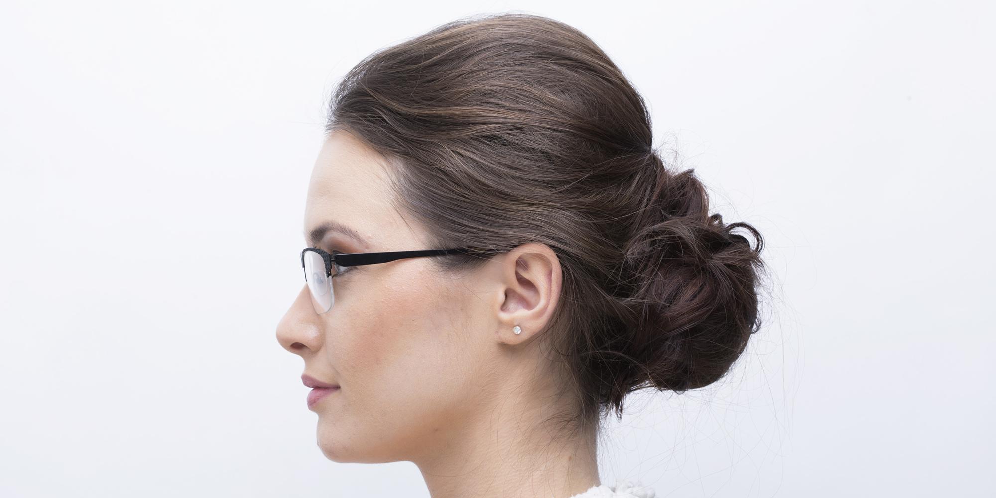 Navajo Half Rim Unisex Eyeglasses Black