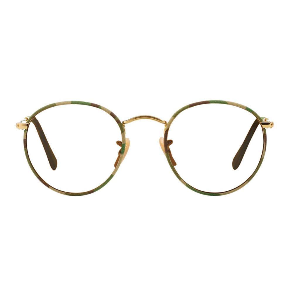 Ray-Ban-0RB3447JM-16950 Brown Gold Green