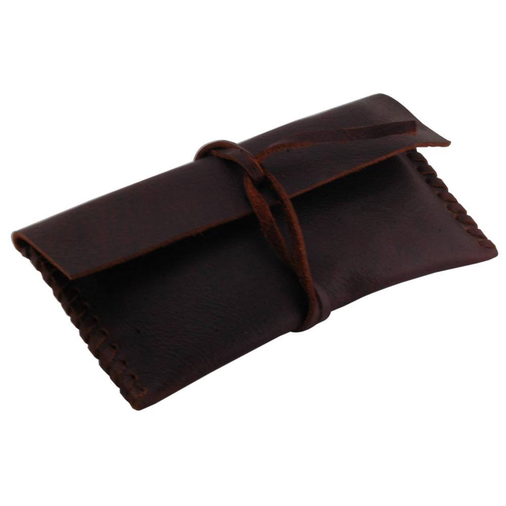 Leather Eyewear Case Brown